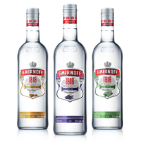 MOAG BAILIE PACKAGING DESIGN SMIRNOFF 1818 FLAVOURS