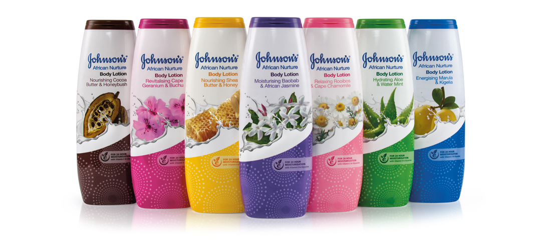 Johnson&Johnson AFRICAN NURTURE Packaging design