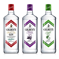 Gilbey's Gin packaging design