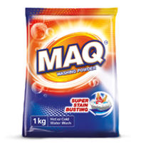 Moag Bailie's Packaging design for MAQ washing powder