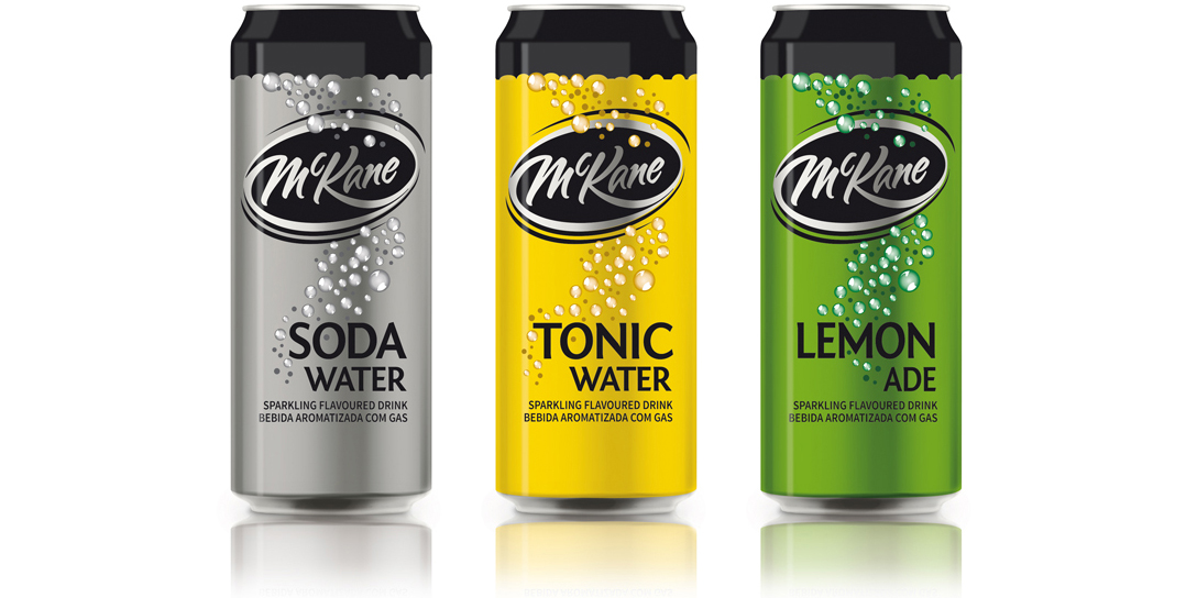 Namibian Breweries MCKane Mixers Packaging Design