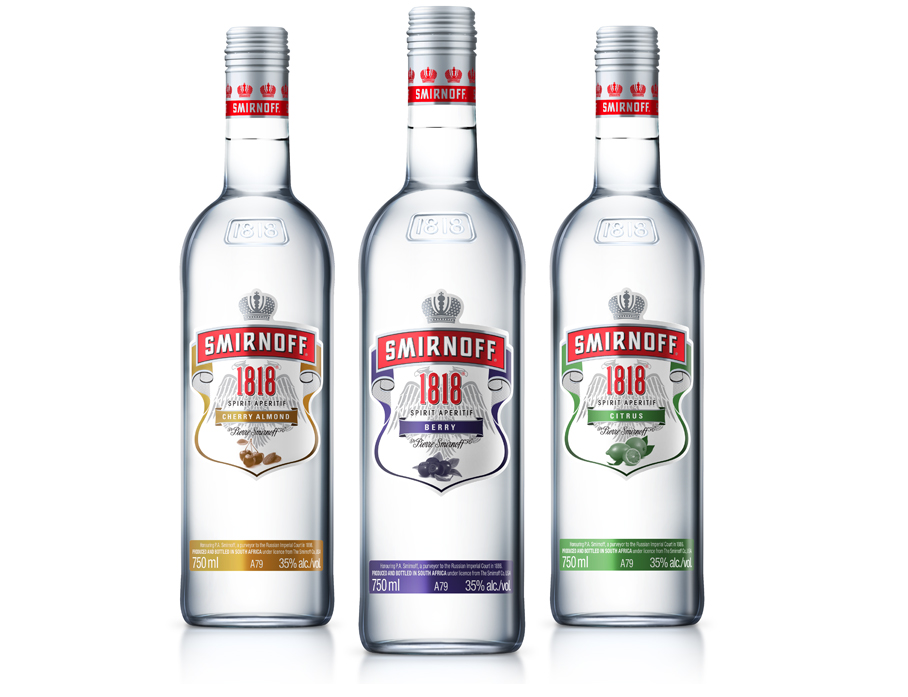SMIRNOFF 1818 NEW FLAVOURS PACKAGING DESIGN