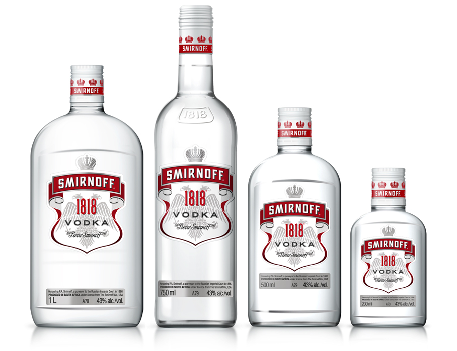 PACKAGING DESIGN SMIRNOFF 1818 RANGE