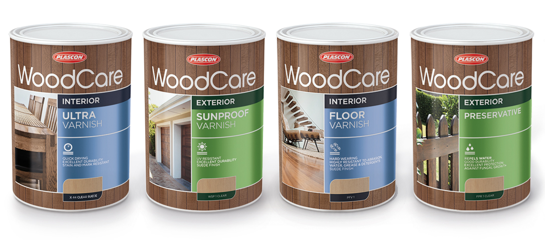 Design of Plascon WoodCare packaging
