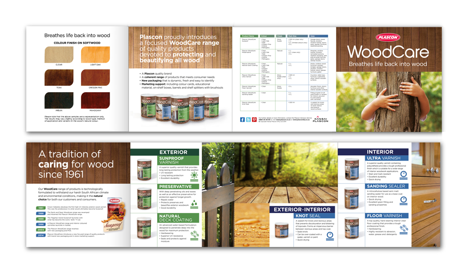 Plascon WoodCare Sales brochure