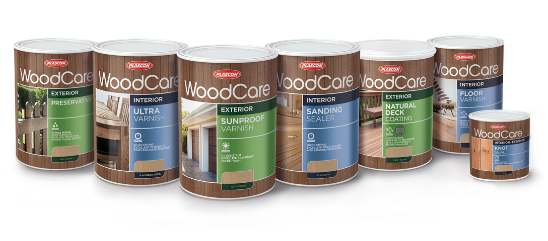 Packaging design for Plascon WoodCare range